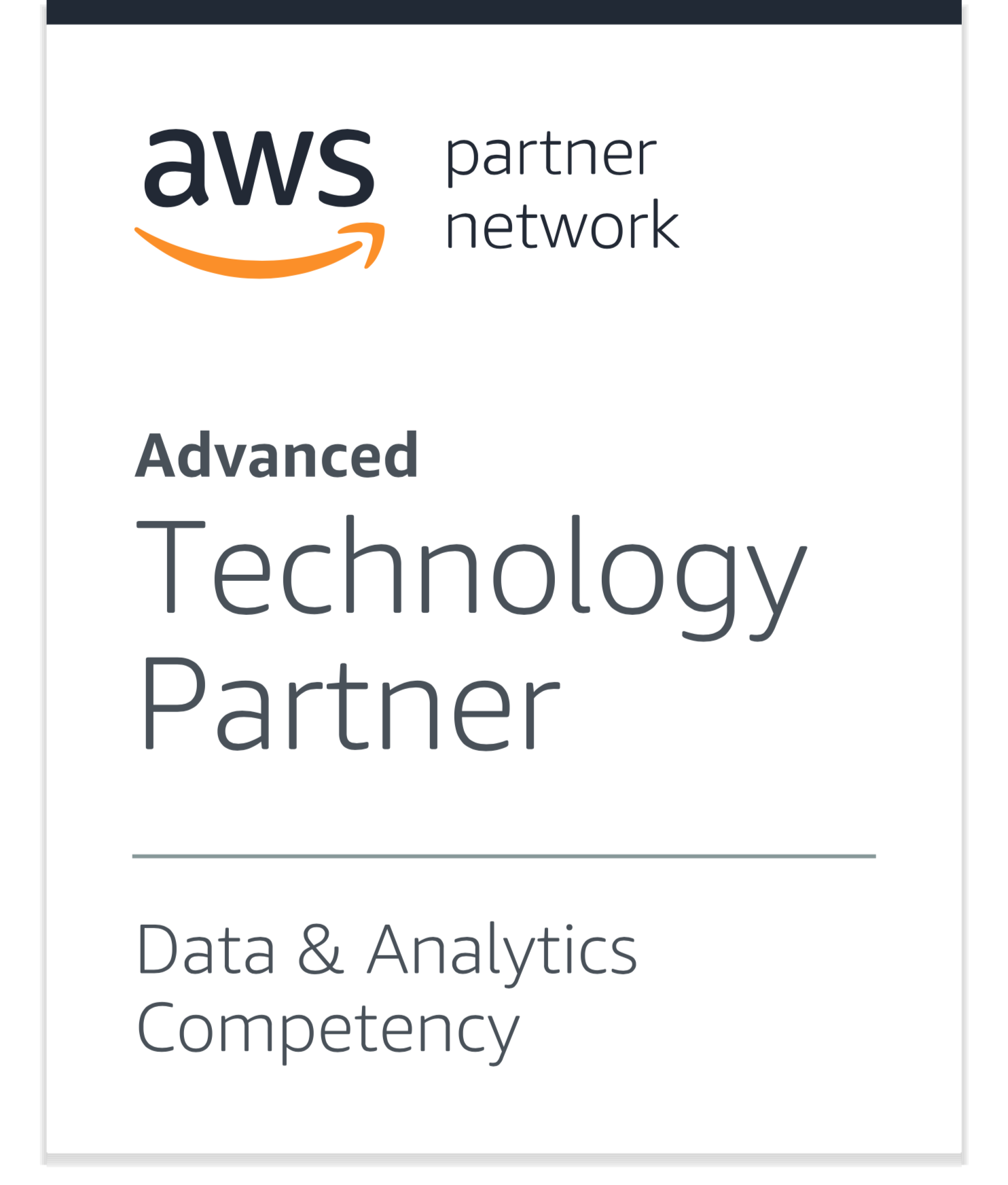 APN Advanced Technology Partner with Data & Analytics Competency