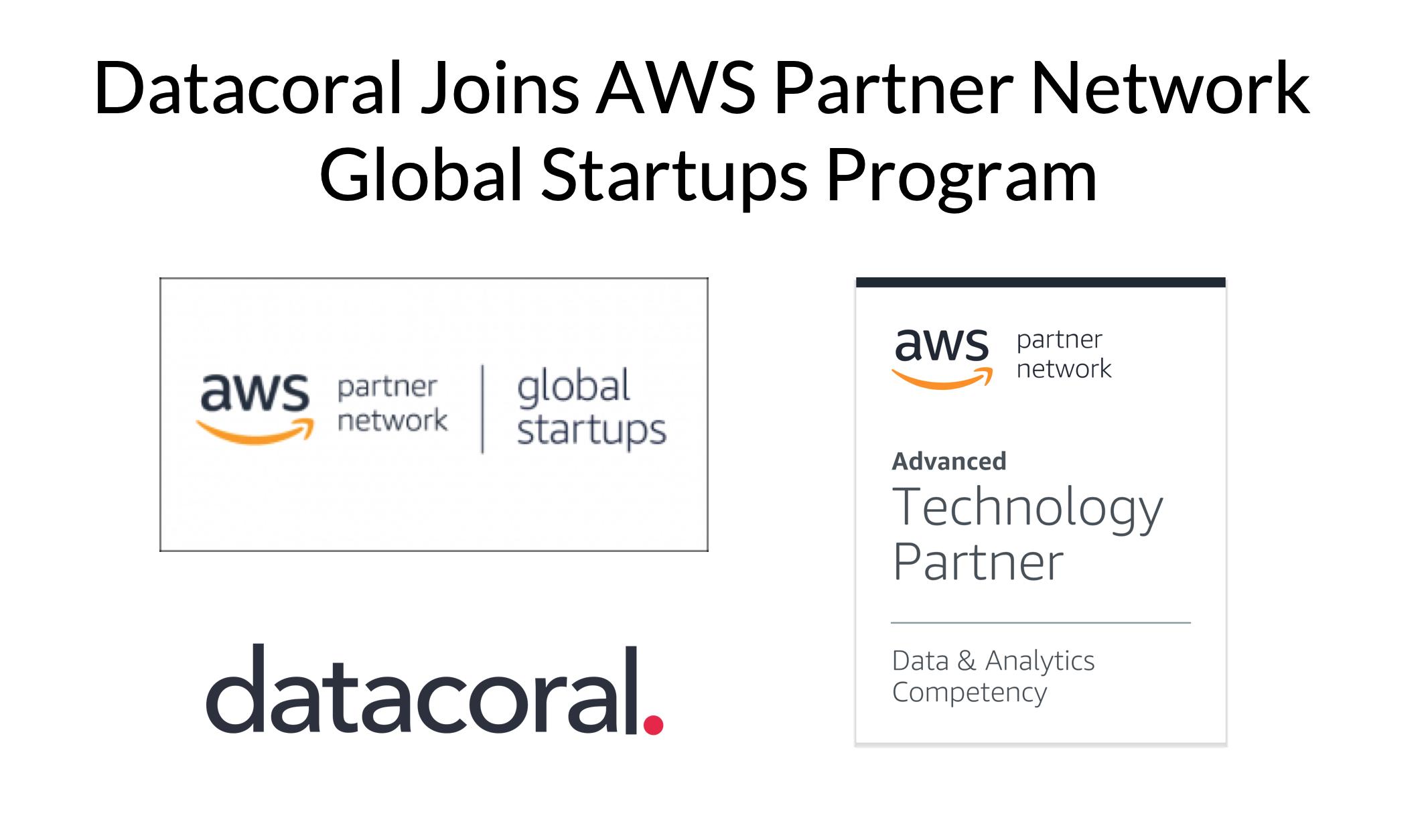 Datacoral joins AWS Partner Network Global Startups Program